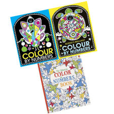 Children Colour By Number 3 Books Collection Set Pre-school & Early Learning New