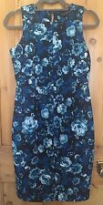 Dorothy Perkins Floral Bodycon Dress Size 10 New With Tags Blue Black