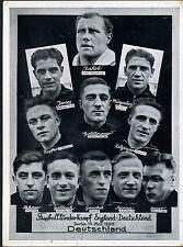 1938 Fussball Länderspiel DEUTSCHLAND-ENGLAND seltene Karte mit SST