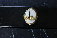 1939*NEW YORK STATE*Worlds Fair*BROOCH/PIN*Goldtone with Mother-of-Pearl*