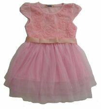 New With Tag Pink Tulle Dress With Flower Applique Size 5