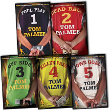 Tom Palmer Football Detective 5 Books Collection Set Offside Own Goal Foul Play