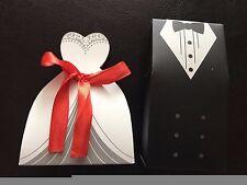 20pcs 3D Wedding Favor Boxes Dress & Tuxedo Party Bride Groom Shower Gift