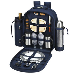 Picnic at Ascot Thermal Shield Picnic Backpack with Coffee Service for 2 (082)