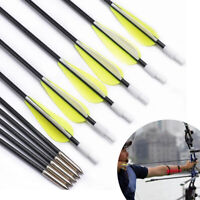 12PCS 26Inch Spine1200 Solid Fiberglass Shaft Target practice Arrows Bow Hunting