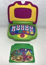Vintage Barney Interactive Laptop Computer Game + 1 Cartridges Mattel G