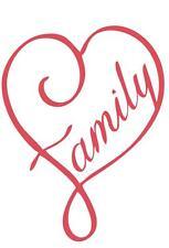 "Love My Family Heart vinyl car or truck window sticker ""Very Cute""  7"" x 5"""