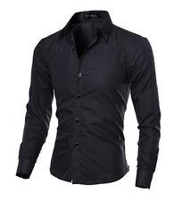 Men's Tops Luxury Fashion Mens Slim Fit Casual Dress Shirts Long Sleeve T-Shirt_