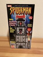 Limited Edition Marvel 2002 Spiderman Talking Action Alarm Clock w/Projector