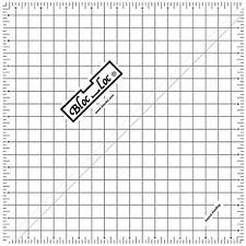 """Bloc Loc 9.5"""" Half Square Triangle Ruler"""