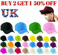 ORIGINAL 5 PANEL BASEBALL CAP, For men women Beechfield Plain 100% Cotton Twill