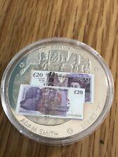 Sammlerstück Britisch Banknote Münze Co Adam Smith F Serie Medaillon + COA