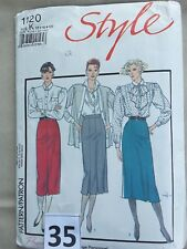 Vintage cut Sewing Pattern Style 1120 set of skirts Size 8, 10, 12  unchecked