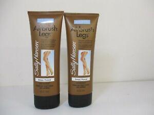 2 SALLY HANSEN AIRBRUSH LEGS MAKEUP LOTION DEEP 4 OZ EACH  JL 12372