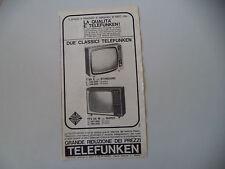 advertising Pubblicità 1964 TELEVISORE TELEFUNKEN T 36 E/TTV 36 M
