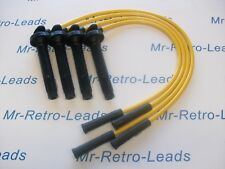 YELLOW 8MM PERFORMANCE IGNITION LEADS WILL FIT SUBARU IMPREZA LEGACY QUALITY HT