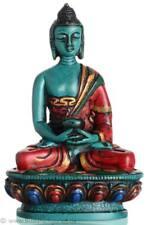 Amitabha Buddha Statua resin 11,5 cm Turchese dipinte a mano - - Buddha personaggio