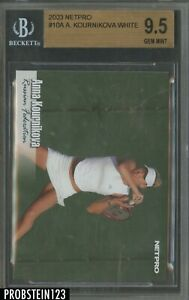 2003 Netpro Tennis #10A Anna Kournikova White RC Rookie BGS 9.5 GEM MINT