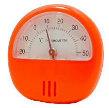 ORANGE MAGNETIC DIAL THERMOMETER FRIDGE FREEZER HOME OFFICE GARAGE WORK KITCHEN