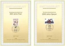 BRD 1990: Speyer 2000 Jahre + Post 500 Jahre Ersttagsblätter Nr 1444 + 1445! 157