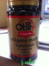Colageno marino hidrolizado con magnesio  Obire 600 mg 60 capsulas