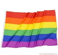 "Rainbow Flag 3 feet by 5 FT Gay Pride Lesbian 36"" x 60"" LGBT Flag with Grommets"
