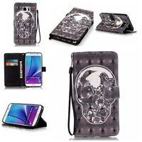 Housse Etui Flip Coque Cover Portefeuille Pu Cuir Wallet Case Pour Samsung & LG