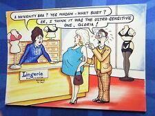 Bamforth Comic Postcard 1980s LINGERIE Maternity Bra Bust Boobs Nylons Stockings