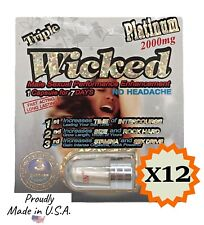 Wicked Triple Platinum 2000mg w/ 12 pills - Made in USA, Male Sexual Performance