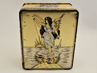 COOK & CO'S HIGH SPEED RING TRAVELLERS VINTAGE TIN c1930/1940s HINGED LID