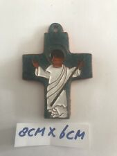 Ceramic Mid Century Crucifix Art Pottery Amfora Perignem Tieberghien Vandeweghe