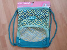 NWT MENS WOMENS SKECHERS BACKPACK GREEN YELLOW CARRYSACK