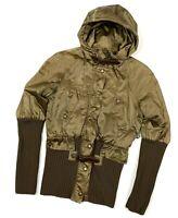 RARE Vintage Women's Jean Paul Gaultier Khaki Bomber Jacket Size 40 S/M