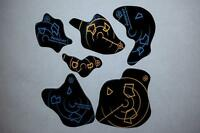 Acrylic Asteroids V2Doublesided.Compatible with Star Wars X-Wing Miniatures Game