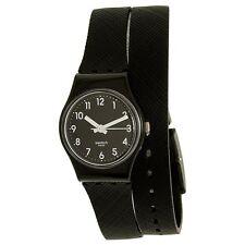 Swatch LB170D Women's Swiss Black Dial Black Silicone Strap Watch