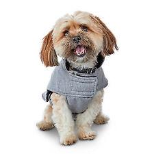 Good2go Grey Flannel Puffer Dog Coat Large