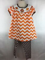 Emily Rose NWT Girls SZ 5 Boutique Thanksgiving Pumpkin Cheetah Halloween Outfit