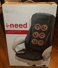 Brookstone i-need Shiatsu Seat Topper With Heat Massager Massage Chair w/box