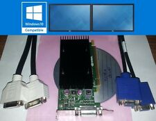 Nvidia Quadro NVS 300 512MB Dual View Low Profile Win7 XP PCI-E Video Card + Cbl