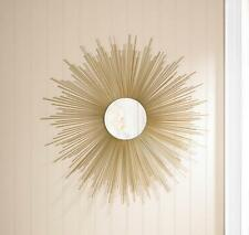 Home Decor Mirrors belle maison floral round wall mirror Golden Rays Sunburst Wall Mirror Home Decor10015862