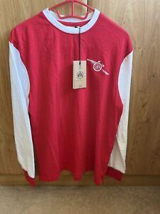 Mens Retro Arsenal Long Sleeve Jersey shirt Adult Size Medium (M)