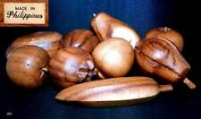 9 pieces wooden fruit   Made in Philippines