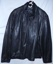 CALVIN KLEIN Men's Black Leather Jacket Coat Size XL NEW