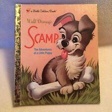 Scamp Walt Disney Little Golden Book Schnauzer Dog Puppy Adventures
