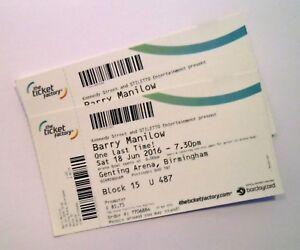 Barry Manilow Tickets - Mint Condition Ticket(s) Birmingham 18/06/16 Memorabilia
