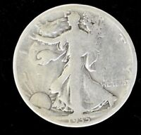 1935 D - LIBERTY WALKING HALF DOLLAR - SILVER - VERY GOOD CONDITION
