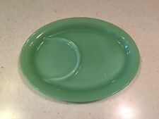 Vintage Fire King Jadeite 8 3/4 Inch Luncheon Snack Dish Tray
