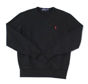 Polo Ralph Lauren Mens Sweater Black US Size XS Pullover Fleece Logo $89 188