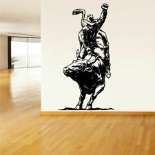 Wall Decal Vinyl Sticker Decals Cowboy Bull Rodeo Detailed (Z1300)