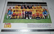 CLIPPING POSTER FOOTBALL 1988-1989 RC LENS RCL BOLLAERT SANG & OR